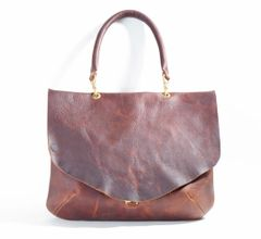 Front Flap Waxed Tote- Large