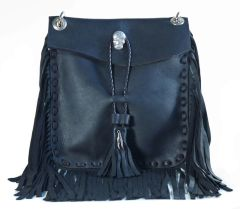 Full Fringe Sugar Skull Crossbody