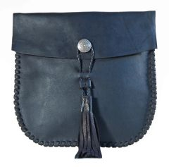 Large Concho Tassel Crossbody