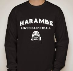 Harambe Loved Basketball Long Sleeve Shirt
