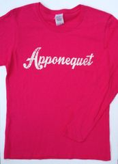 Apponequet Ladies Pink Long Sleeve