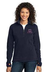 Apponequet Ladies MicroFleece 1/4 Zip Pullover