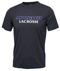 Apponequet Boys Lacrosse Tech Tee - Navy
