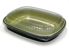 Pactiv - 60oz Aluminum Classic Carry Out Tray & Dome Lid