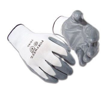 Nitirle Plam Gloves - Nylon Liner - [NF1001] - Various Sizes - Dozen