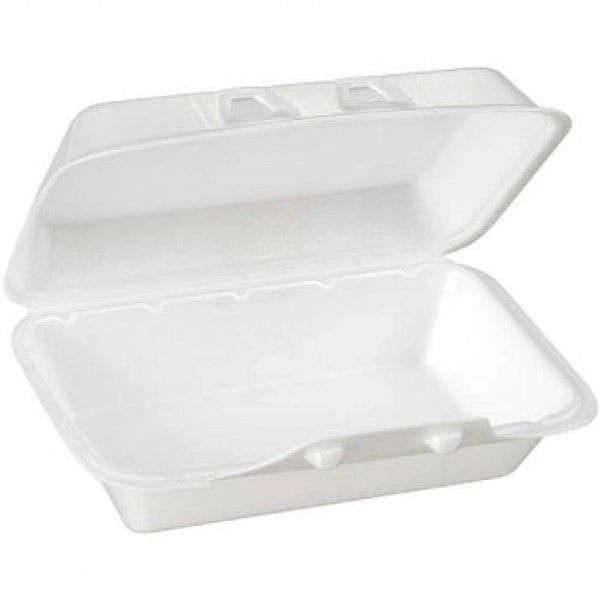"""Pactiv - [HLW-0188] - 8.75"""" x 5.5"""" x 3"""" - Foam Hinged Lid Container - 220/CS"""