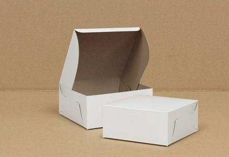 "Cake Box - 5.5"" x 5.5"" x 2.5""- [0100] - Double Lock - 250/CS"