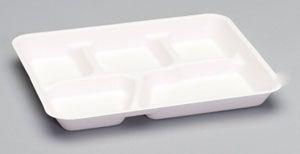 Harvest Fiber - Compostable 5 compartment Plate - 500/CS
