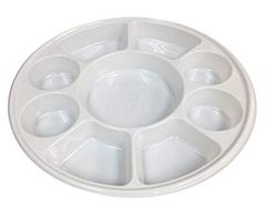 9 Section Plastic Party Tray - 200/CS