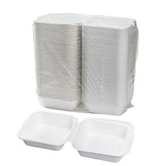 """TOUCH - [12-111] - 6"""" BAGASSE HAMBURGER CONTAINER - 500/CS"""