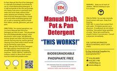 En Kay Manual Dish Pot & Pan Detergent 4L - 4/CS