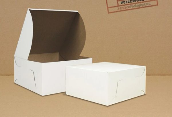"Cake Box - 12"" x 12"" x 6"" - [0225] - Double Lock - 50/CS"