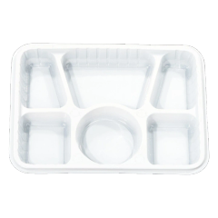 6 Section Plastic Party Tray - 400/CS