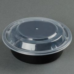 "Microwavable Container - 6"" Round - [PCM] - 16oz - 150 Sets / Case"