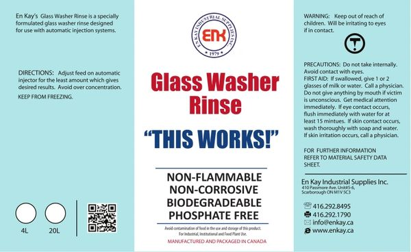 En Kay Glasswasher Rinse 4L - 4/CS