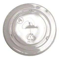 Pactiv - [YLP20C] - Clear Flat Lid w/Straw Slot for YP162C Clear PET Cup - 1020/CS