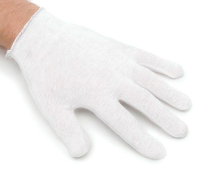 Inspectors Gloves - Poly/Cotton Blend - [09I-300] - Hemmed Cuff - Mens & Women