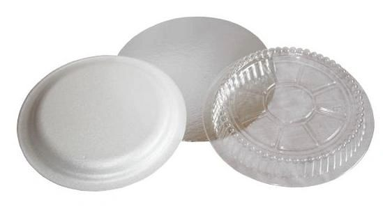 "Pactiv - [0527] - Foam Lid for 7"" Round Container - 500/CS"