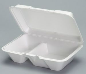 Foam Hinged Large Deep 2 Compartment All Purpose Container - [20520] - 200/CS