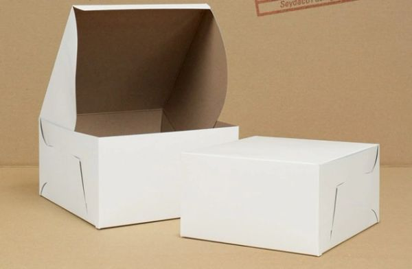 "Cake Box - 9"" x 9"" x 5"" - [0185] - Double Lock - 100/CS"