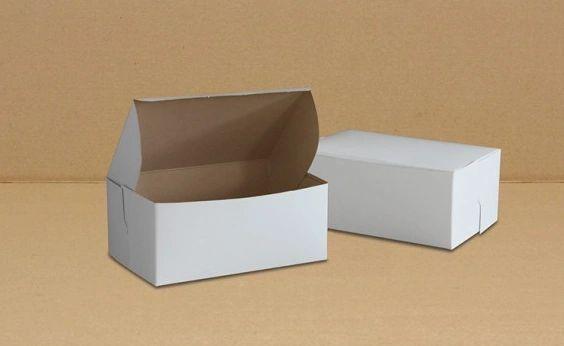"Cake Box - 8"" x 5.5"" x 3.5"" / 4lb - [0155] - Single Lock - 250/CS"
