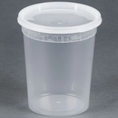 Microwavable Container - 32oz Deli Container - [PCM] - 32oz - 250 Sets / Case