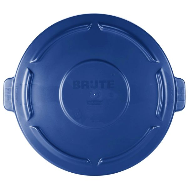 Rubbermaid - 1779636 - BRUTE 44 Gallon Blue Trash Can Lid