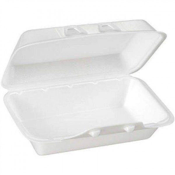 """CKF - FST-99 - Foam Hinged Lid Container - 8.75"""" x 5.5"""" x 3"""" - 200/CS"""