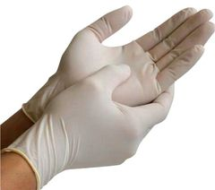 Latex Gloves - Lightly Powdered - [Safe Guard] - All Sizes - 100 Gloves/Box