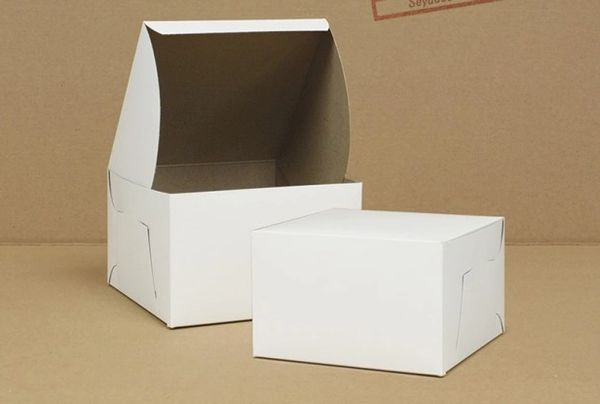 "Cake Box - 8"" x 8"" x 5"" - [0167] - Double Lock - 100/CS"