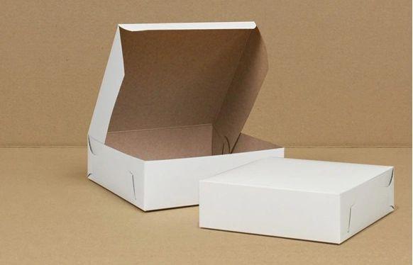 "Cake Box - 8"" x 8"" x 2.5"" - [0160] - Double Lock - 250/CS"