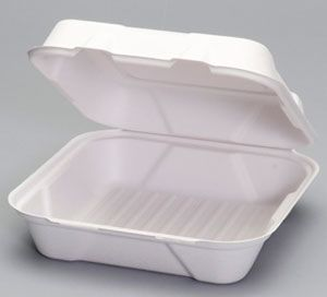 Harvest Fiber - Compostable Large Hinged Container - 200/CS