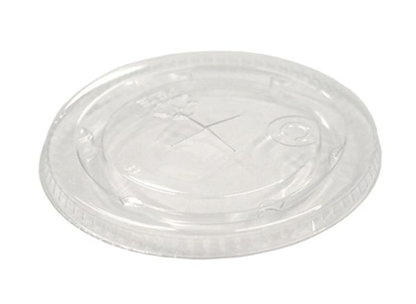 Pactiv - [YLP16C] - Clear Flat Lid w/Straw Slot for YE12 & YE14 Translucent Cups - 1125/CS
