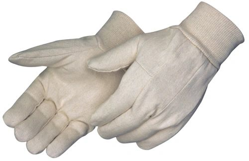 Cotton Gloves - 8oz - Knit Wrist - [09I-TK8C] - One Size - Mens