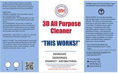 En Kay 3D All Purpose Cleaner 4L - 4/CS