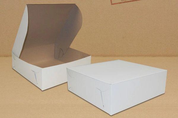 "Cake Box - 12"" x 12"" x 4"" - [0215] - Double Lock - 100/CS"