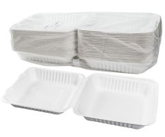 """TOUCH - [12-114] - 9"""" BAGASSE MEAL CONTAINER - 200/CS"""