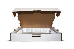 Jumbo Catering Boxes - 25/BD - Shrinkwrapped, White.