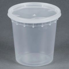 Microwavable Container - 24oz Deli Container - [PCM] - 24oz - 250 Sets / Case