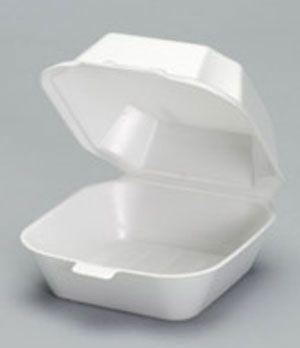 Foam Hinged Medium Sandwich Container - [22400] - 500CS