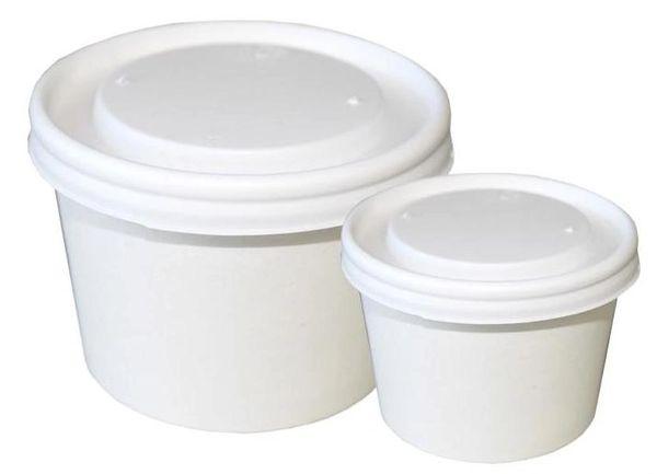 Lids for 5oz Plain RR Paper Food Containers - Opaque Lids - 500/CS