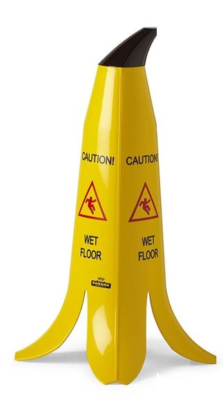 "The Banana Cone - 24"" - French & English Wet Floor Sign"