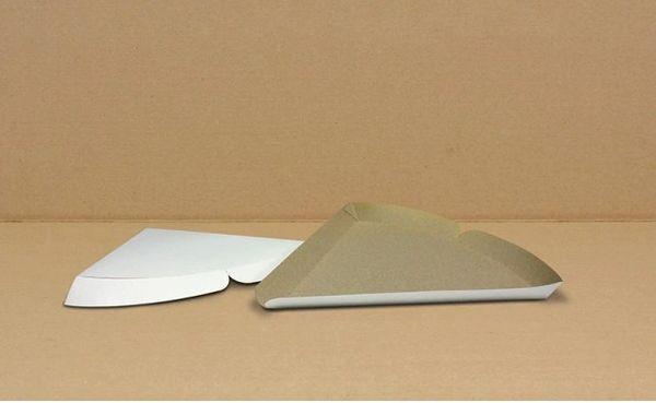 """Plain 9"""" Pizza Slice Tray - [0051] - 9"""" x 9"""" x 1"""" - 500/CS"""