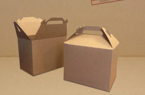 Small Handle Carton (Chip) - [0160] - 7 1/2 x 5 x 6 1/4 - 100/CS