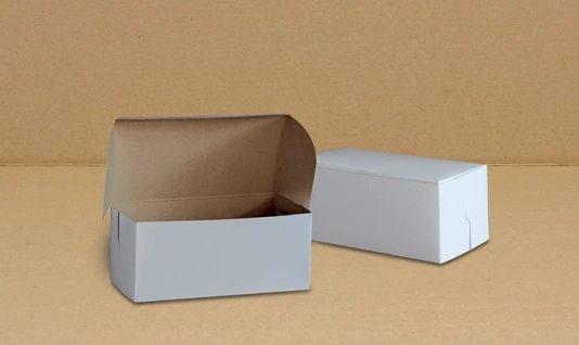 "Cake Box - 8"" x 4"" x 3.5"" / 3lb - [0145] - Single Lock - 250/CS"