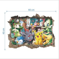 POKEMON WINDOW WALL DECAL POSTER