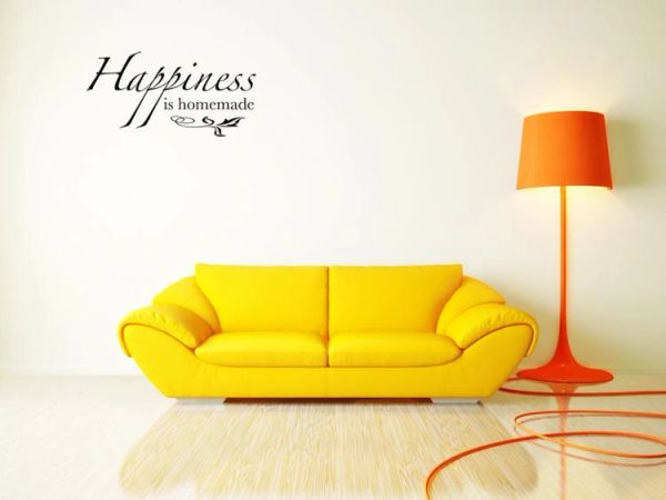 happiness is homemade wall decal sticker art | 3d wall decals