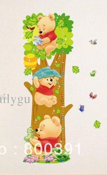 3d winnie the pooh growth chart wall decal sticker art   3d wall