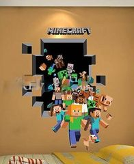 3D MINECRAFT WALL DECAL