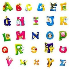 ALPHABET ANIMAL WALL DECAL